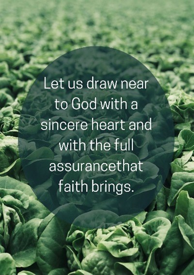 Let us draw near to God with a